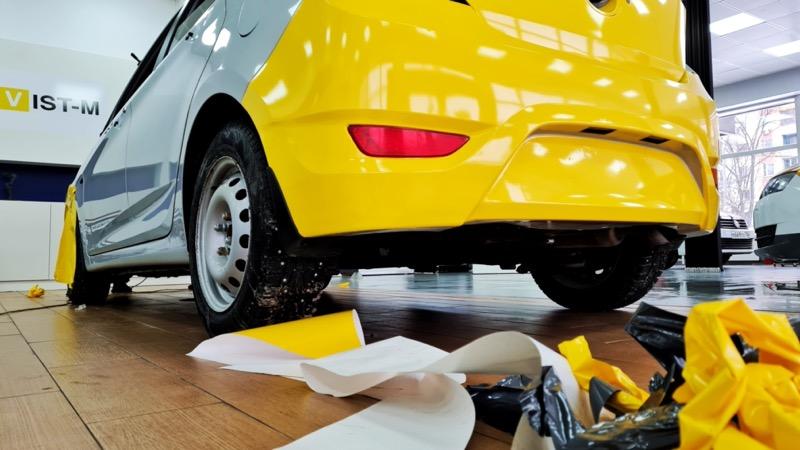Оклейка авто в желтый цвет 🚖 для работы в такси
